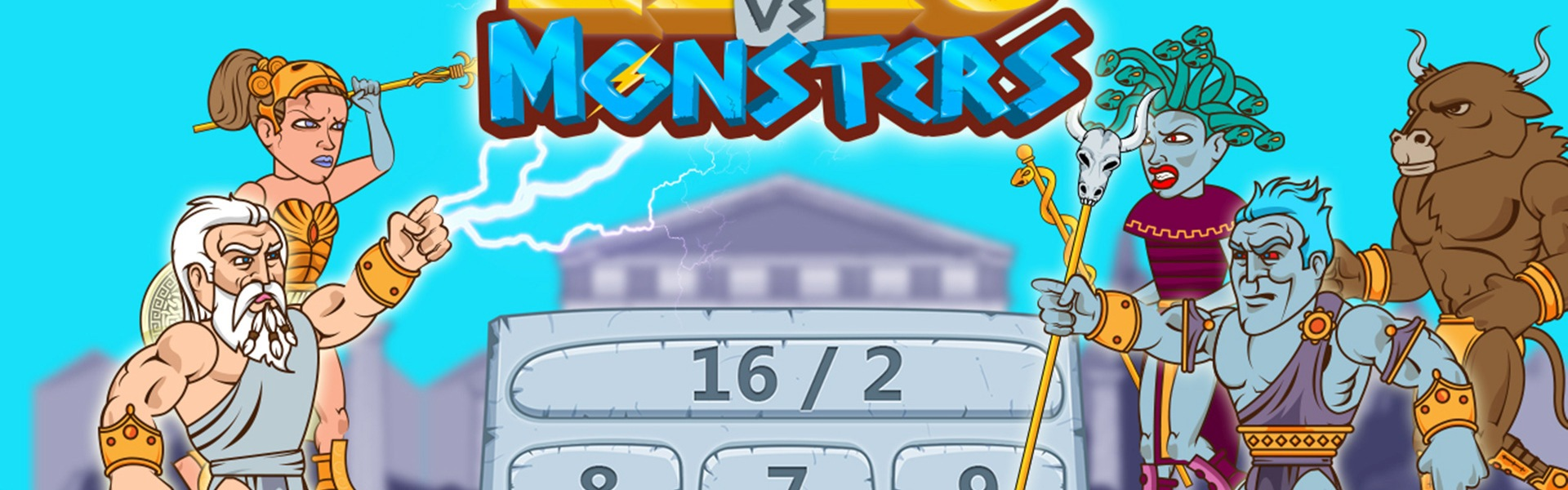 Zeus vs Monsters - Math Game for kids Steam Key GLOBAL