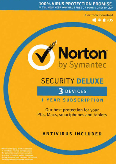 Norton Security Deluxe - 3 Device - 1 Year - Norton Key EUROPE