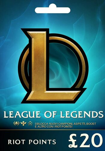 League of Legends Gift Card £20 - 3080 Riot Points / Valorant Points - EU WEST Server Only