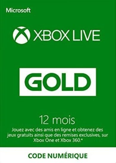 Xbox Live Gold 12 months Xbox Live Key FRANCE