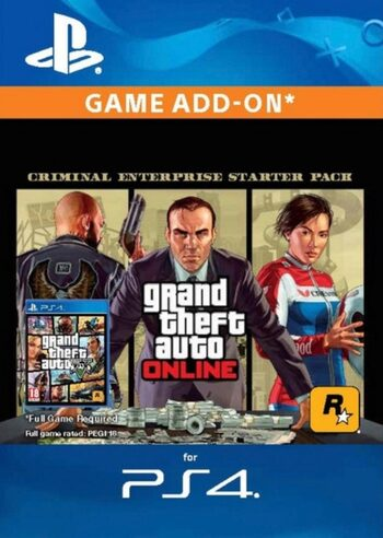 Grand Theft Auto V: Criminal Enterprise Starter Pack (DLC) (PS4) PSN Key EUROPE
