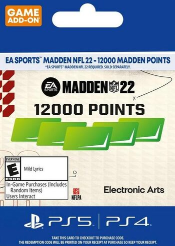 MADDEN NFL 22 - 12000 Madden Points (PS4/PS5) PSN Key UNITED STATES