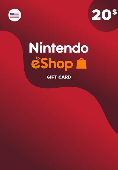 Nintendo eShop Card 20 USD Key NORTH AMERICA