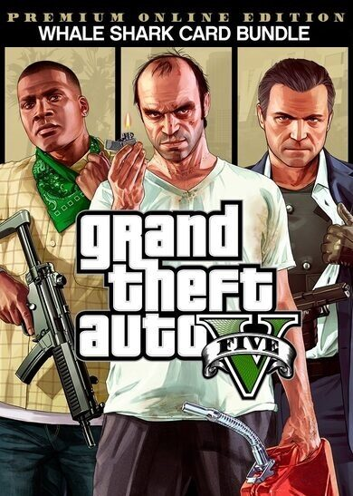 Grand Theft Auto V: Premium Online Edition & Whale Shark Card Bundle Rockstar Social Club Key GLOBAL