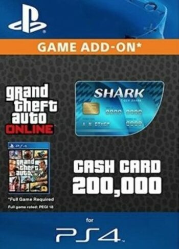Grand Theft Auto Online: Tiger Shark Cash Card (PS4) PSN Key EUROPE