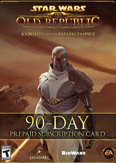 Star Wars: The Old Republic - 90 Day Pre-paid Time Card Key GLOBAL