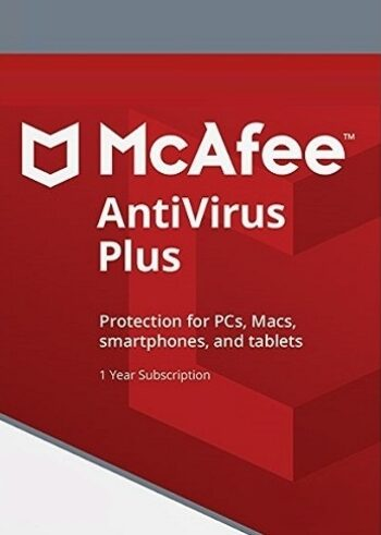 McAfee AntiVirus Plus Unlimited Device 1 Year PC, Android, Mac, iOS McAfee Key GLOBAL