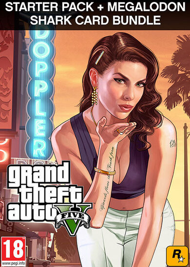 Grand Theft Auto V: Premium Online Edition & Megalodon Shark Card Bundle Rockstar Games Launcher Key GLOBAL