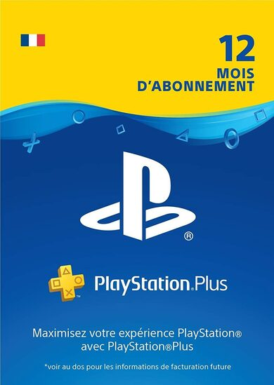 Carte PlayStation Plus 12 mois (FR) clé PSN FRANCE