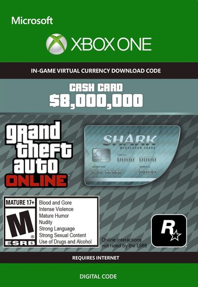 GTA Online Cash Gamecard Megalodon Shark Xbox One