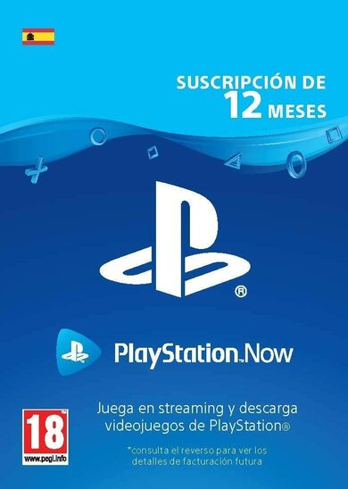 PlayStation Now 12 Month Subscription (ES) PSN Key SPAIN