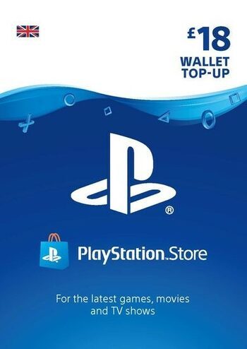 PlayStation Network Card 18 GBP (UK) PSN Key UNITED KINGDOM