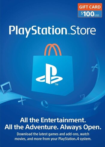PlayStation Network Card 100 USD (USA) PSN Key UNITED STATES