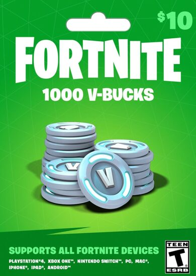 Fortnite - 1000 V-Bucks Gift Card (10 USD) Epic Games Key GLOBAL