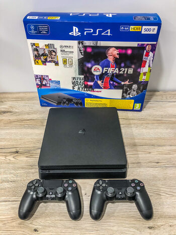 PlayStation 4, JetBlack, 500GB 20mėn garantija!