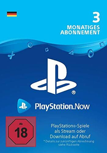PlayStation Now 3 Month Subscription (DE) PSN Key GERMANY