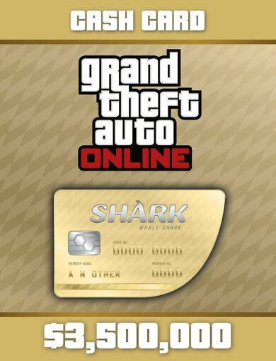 Grand Theft Auto Online: Whale Shark Cash Card Rockstar Games Launcher Key GLOBAL