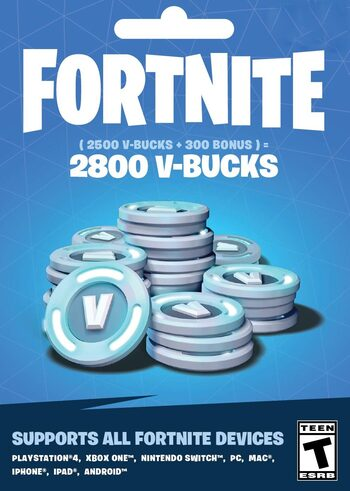 Fortnite - 2800 V-Bucks Gift Card Key UNITED STATES