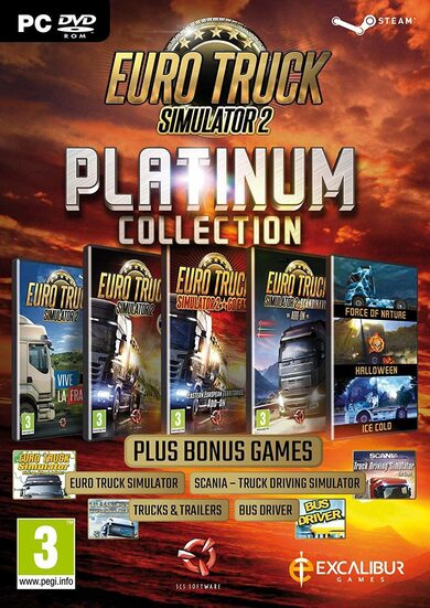 Euro Truck Simulator 2 - Platinum Edition Steam Key GLOBAL фото