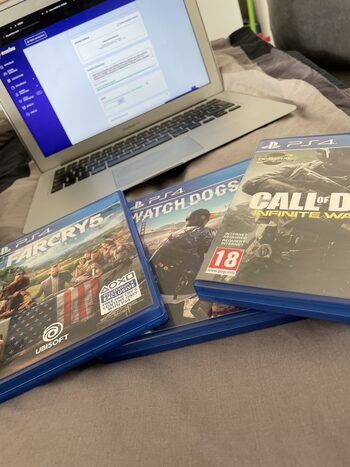 Far Cry 5 & Watch Dogs 2 & COD: Infinite Warfare For PS`4