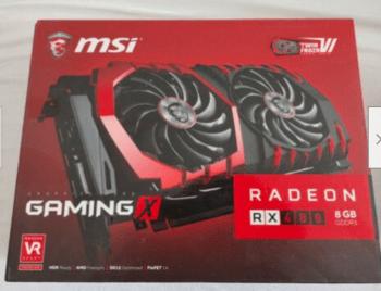 MSI Radeon RX 480 8 GB 1120-1266 Mhz PCIe x16 GPU