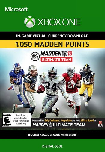 Madden NFL 16 - 1050 Points XBOX LIVE Key GLOBAL