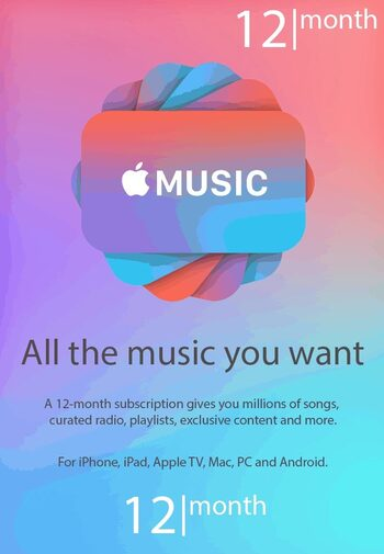 Apple Music Subscription 12 months Key CANADA