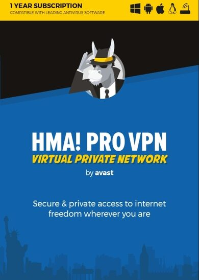 HMA! Pro VPN Unlimited Devices 1 Year Avast Key GLOBAL
