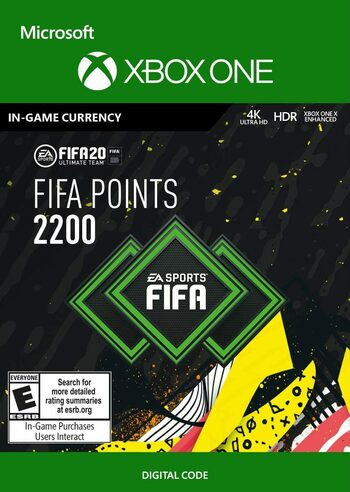 FIFA 20 - 2200 FUT Points (XBOX ONE) Xbox Live Klucz GLOBAL