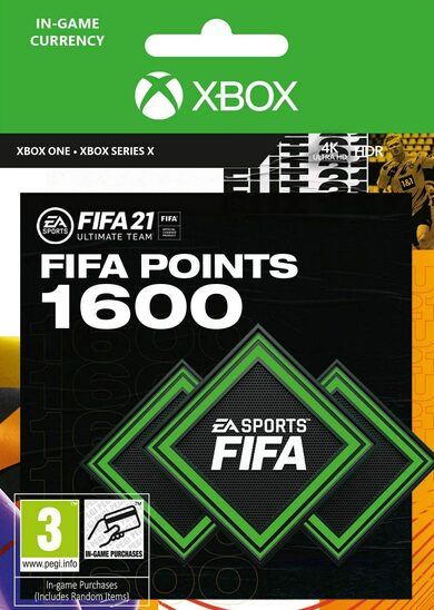 FIFA 21 - 1600 FUT Points (Xbox One) Xbox Live código Global