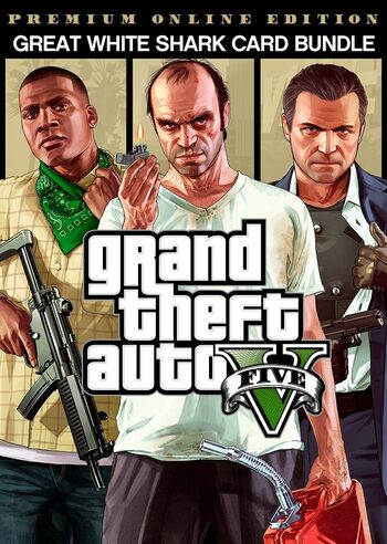 GTAV Premium Online Edition & Great White Shark Card Rockstar Games Launcher Key GLOBAL