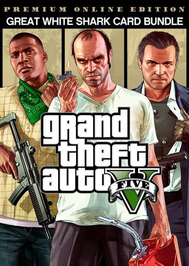 Grand Theft Auto V: Premium Online Edition & Great White Shark Card Bundle Rockstar Games Launcher Key GLOBAL