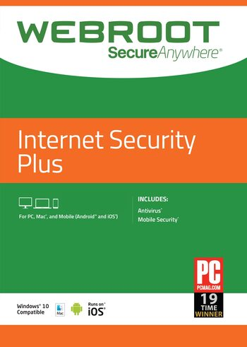 Webroot SecureAnywhere Internet Security Plus 3 Devices 1 Year Key GLOBAL