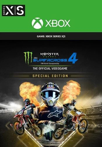 Monster Energy Supercross 4 - Special Edition (Xbox Series X S) XBOX LIVE Key UNITED STATES
