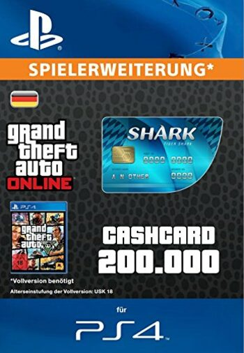 Grand Theft Auto Online: Tiger Shark Cash Card (PS4) PSN Key GERMANY