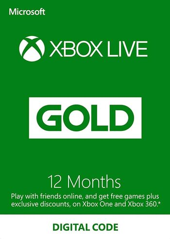 Xbox Live Gold 12 meses Xbox Live Key GLOBAL