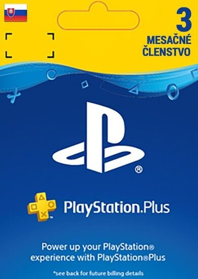 PlayStation Plus Card 90 Days (SK) PSN Key SLOVAKIA