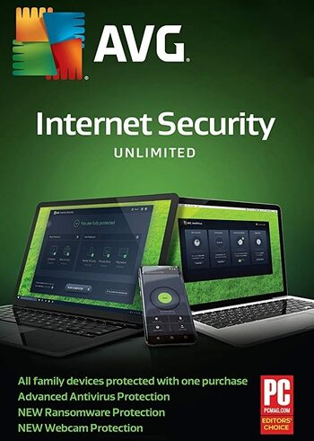 AVG Internet Security Unlimited Devices 1 Year AVG Key GLOBAL