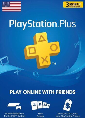Suscripción PlayStation Plus Card 90 días (USA) código PSN Estados Unidos