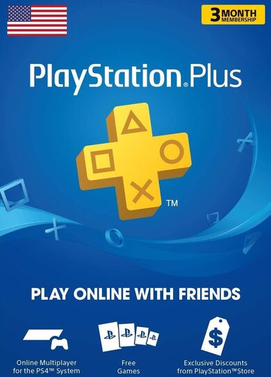 PlayStation Plus Card 90 Days (USA) PSN USA Código Más Barato