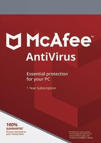 McAfee AntiVirus 1 Device 1 Year McAfee Key GLOBAL