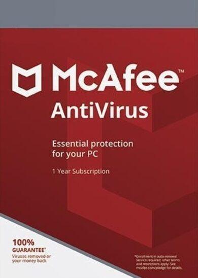 McAfee AntiVirus 1 Device 1 Year McAfee Key GLOBAL