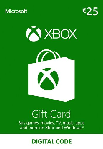 Xbox Live Gift Card 25 EUR Xbox Live Klucz EUROPE