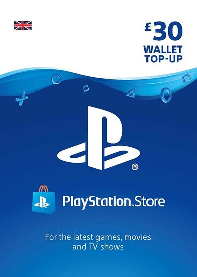 PlayStation Network Card 30 GBP (UK) PSN Key UNITED KINGDOM