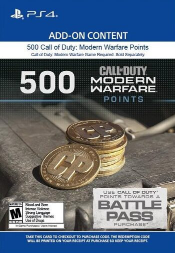 500 Call of Duty: Modern Warfare Points (PS4/PS5) PSN Key UNITED STATES
