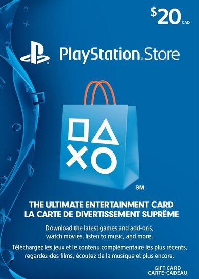 PlayStation Network Card 20 CAD PSN Key CANADA