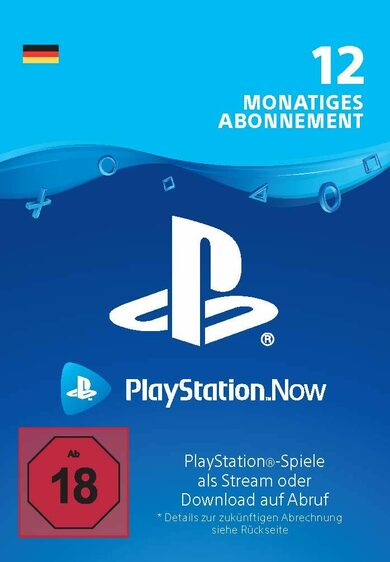 PlayStation Now 12 Month Subscription (DE) PSN Key GERMANY