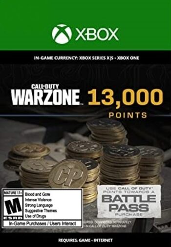 13,000 Call of Duty: Warzone Points XBOX LIVE Key GLOBAL