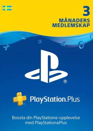PlayStation Plus Card 90 Days (SE) PSN Key SWEDEN