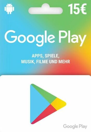 Google Play Gift Card 15 EUR (DE) Key GERMANY